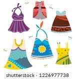 dresses of various patterns | Shutterstock .eps vector #1226977738