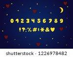 alphabet cartoon design  moon... | Shutterstock .eps vector #1226978482