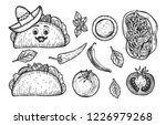 vector illustration of mexican... | Shutterstock .eps vector #1226979268