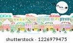 winter city landscape  seamless....   Shutterstock .eps vector #1226979475