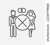 divorce icon line symbol....