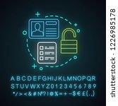 account creation neon light... | Shutterstock .eps vector #1226985178