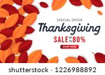 thanksgiving background with... | Shutterstock .eps vector #1226988892