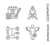 startup linear icons set.... | Shutterstock .eps vector #1226992972