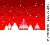 pixel art fir trees christmas... | Shutterstock .eps vector #1227001858