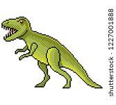 pixel art tyrannosaurus... | Shutterstock .eps vector #1227001888