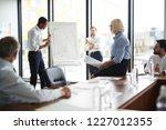 young african american broker... | Shutterstock . vector #1227012355