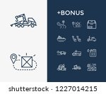 delivery icon set and cruise...