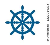ship and boat helm steering...   Shutterstock .eps vector #1227014335