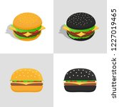 set of burger icons.... | Shutterstock . vector #1227019465