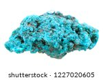 unknown blue mineral isolated... | Shutterstock . vector #1227020605