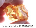 natural amber mineral isolated... | Shutterstock . vector #1227020638