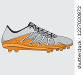 vector sneakers football shoes  ... | Shutterstock .eps vector #1227020872