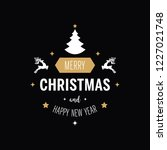 merry christmas greeting text...   Shutterstock .eps vector #1227021748