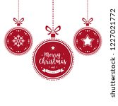 christmas wishes ornaments red... | Shutterstock .eps vector #1227021772