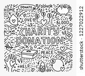 charity and donation. doodle... | Shutterstock .eps vector #1227022912