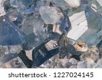 celestine mineral texture as... | Shutterstock . vector #1227024145