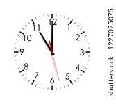 clock face isolated on white... | Shutterstock .eps vector #1227025075