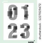 number font template modern... | Shutterstock .eps vector #1227025672