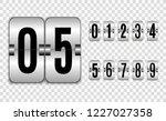 mechanical scoreboard. set of... | Shutterstock .eps vector #1227027358