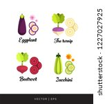 a set of vector editable... | Shutterstock .eps vector #1227027925