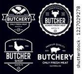 butcher shop labels badges... | Shutterstock .eps vector #1227029278