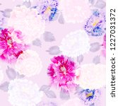 floral pattern pink effect... | Shutterstock . vector #1227031372