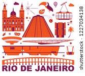 rio de janeiro culture travel... | Shutterstock .eps vector #1227034138