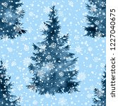 christmas tree hand paint... | Shutterstock . vector #1227040675