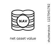 net asset value icon. trendy... | Shutterstock .eps vector #1227041782