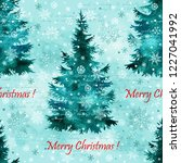 christmas tree hand paint... | Shutterstock . vector #1227041992