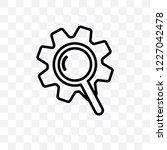 seo ranking vector linear icon... | Shutterstock .eps vector #1227042478