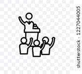 politician vector linear icon... | Shutterstock .eps vector #1227044005