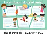 cute kids education  back to... | Shutterstock .eps vector #1227044602