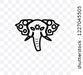 holy elephant vector linear...   Shutterstock .eps vector #1227045505