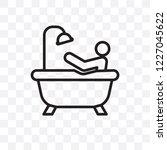 person bathing vector linear... | Shutterstock .eps vector #1227045622