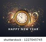vector stock gold 2019... | Shutterstock .eps vector #1227045745