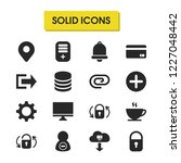 interface icons set with log...