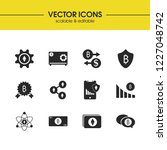 crypto finance icons set with...