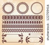 collection of baroque pattern... | Shutterstock .eps vector #122705416