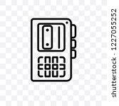 voice recorder vector linear... | Shutterstock .eps vector #1227055252
