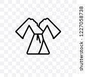dressing gown vector linear... | Shutterstock .eps vector #1227058738