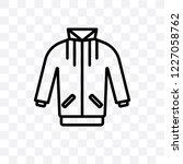 jogging jacket vector linear... | Shutterstock .eps vector #1227058762