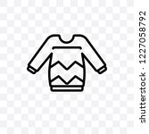 sweater vector linear icon... | Shutterstock .eps vector #1227058792