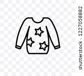 sweatshirt vector linear icon... | Shutterstock .eps vector #1227058882