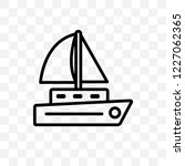 sailboat vector linear icon... | Shutterstock .eps vector #1227062365