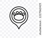 pet zone point vector linear... | Shutterstock .eps vector #1227062425