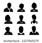 set of vector men and women... | Shutterstock .eps vector #1227065275