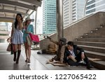 Asian Tourist Women With Many...