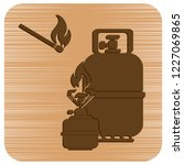 camping stove with gas bottle... | Shutterstock .eps vector #1227069865